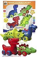3蜂と私の恐竜のおもちゃ男の子と女の子 - 幼児と高齢の子供 - 4つのおもちゃ恐竜のセット
