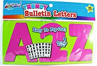 Trendy Uppercase Bulletin Letters - Pink (70 Characters) [並行輸入品]