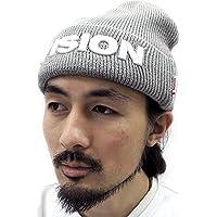 (ヴィジョンストリートウエアー) VISION STREET WEAR ニット帽 メンズ 帽子 ロゴ 刺繍 ワッチ 6color Free ミディアムグレー