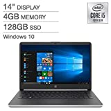 "All-New 2020 HP 14"" inch FHD IPS LED 1080p Laptop Intel Core 10th Gen i5-1035G4 4GB DDR4 128GB SSD Windows 10 in S Mode (Silver)"