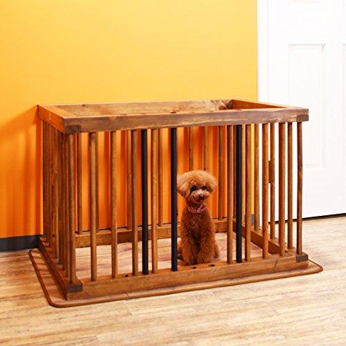 犬 ケージ サークル 室内 ペットケージ ドギーサークル ペットサークル 天然木 木製 おしゃれ 小型犬用 モ...
