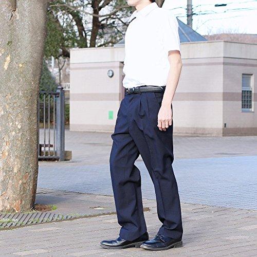 選べる裾上げ済みツータックビジネススラックス 夏物 ネイビー (ウエスト94cm, レングス76cm)
