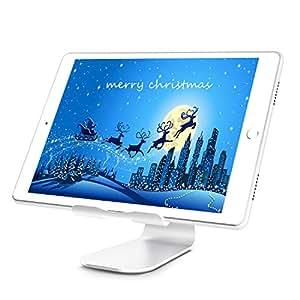 Whaleship スマホ タブレットスタンド 210度回転可能 アルミ製 iPhone iPad Air iPad Mini タブレット対応 銀色