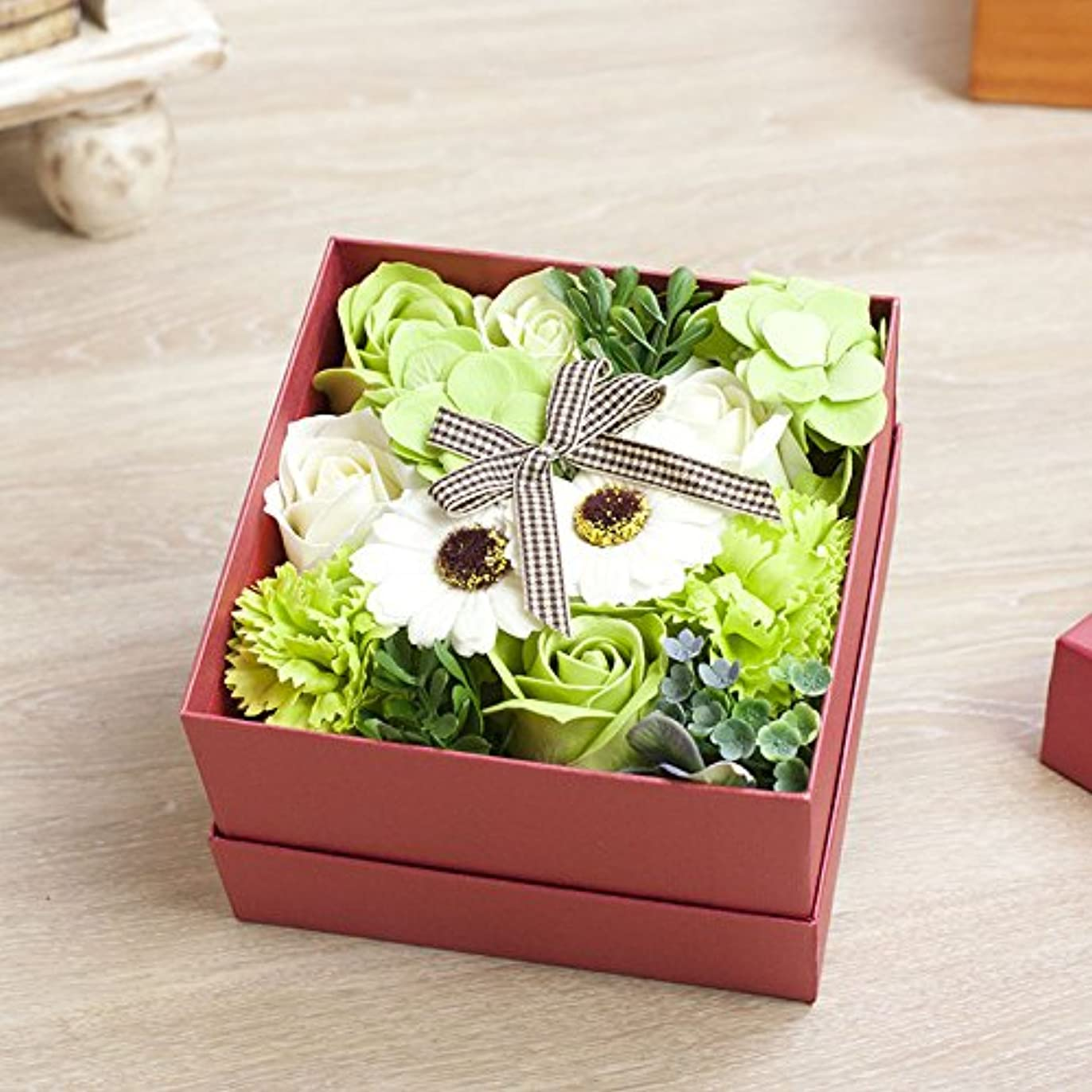 主張する爵教室花のカタチの入浴料!フラワーフレグランスボックス ピンクボックス