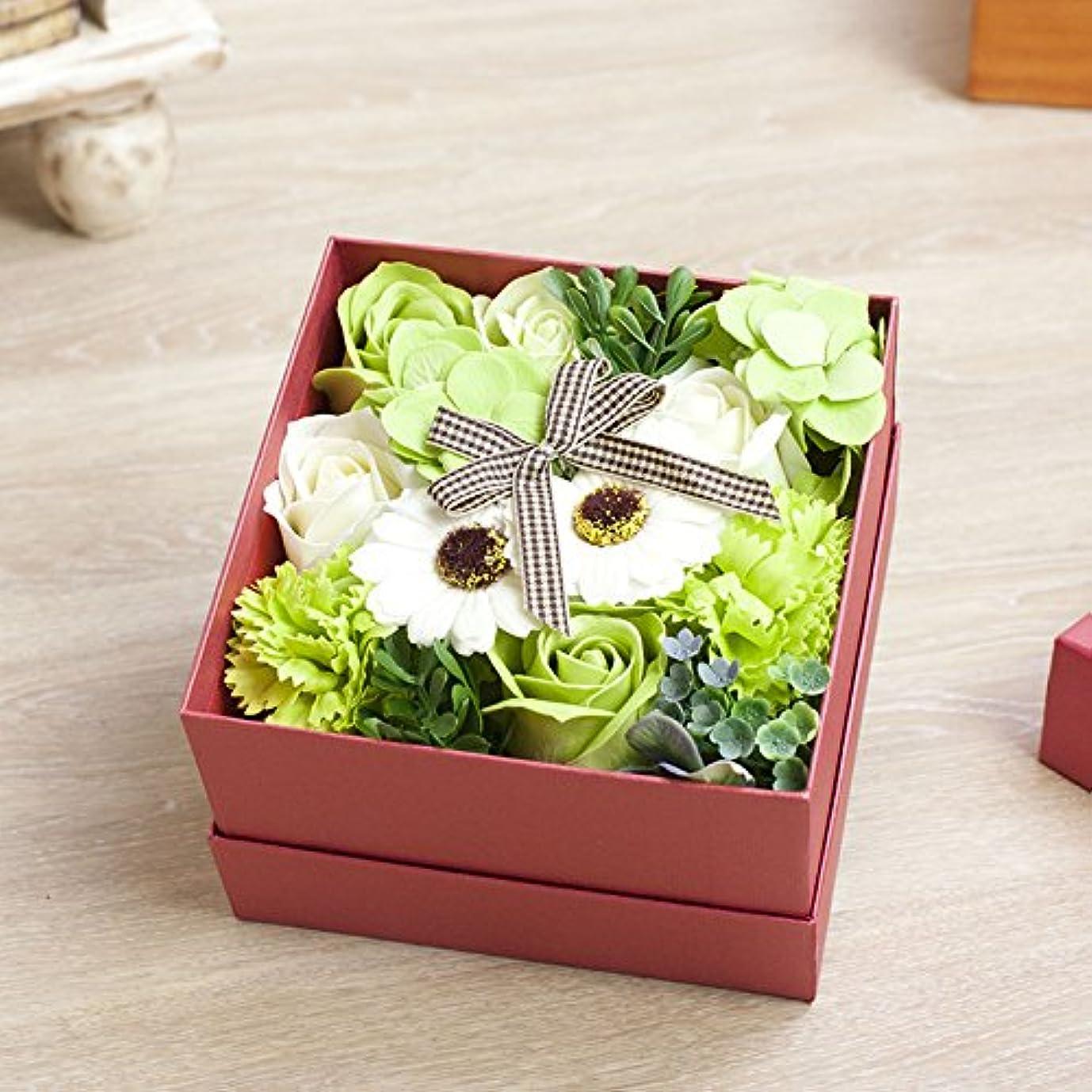 ペフセラー受賞花のカタチの入浴料!フラワーフレグランスボックス ピンクボックス