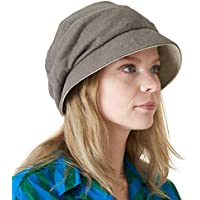 Womens Organic Cotton Sun Hat - Reversible Colour Slouch Beret Japanese Design Chemo Hat