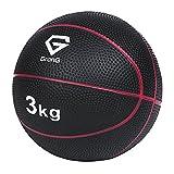 メディシンボール 3kg トレーニングマニュアル付き(島袋好一トレーナー監修) 非バウンドタイプ