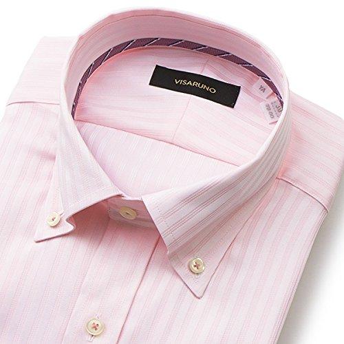 ビサルノ(VISARUNO) 【アウトレット】ラクチンすっきりYシャツ(綿100%素材)【ピンク/【細身】41(81~83)】