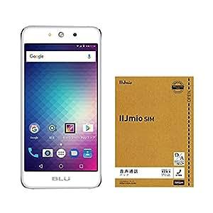 【Amazon.co.jp 限定】BLU(ブルー)GRAND M SIMフリースマートフォン シルバー 専用ケース付 & IIJmio SIMカードウェルカムパック セット
