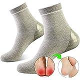 ソックス かかとケア かかと保護 潤い保湿ジェル靴下 かかとサポーター 角質ケア 乾燥 痛みを和らげる 美脚 通気性(メンズソックス)