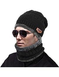 MUCO ニット帽 ネックウォーマー キャップ 二つ編みセット 暖かい アウトドア 冬 おしゃれ 防寒対策 男女兼用