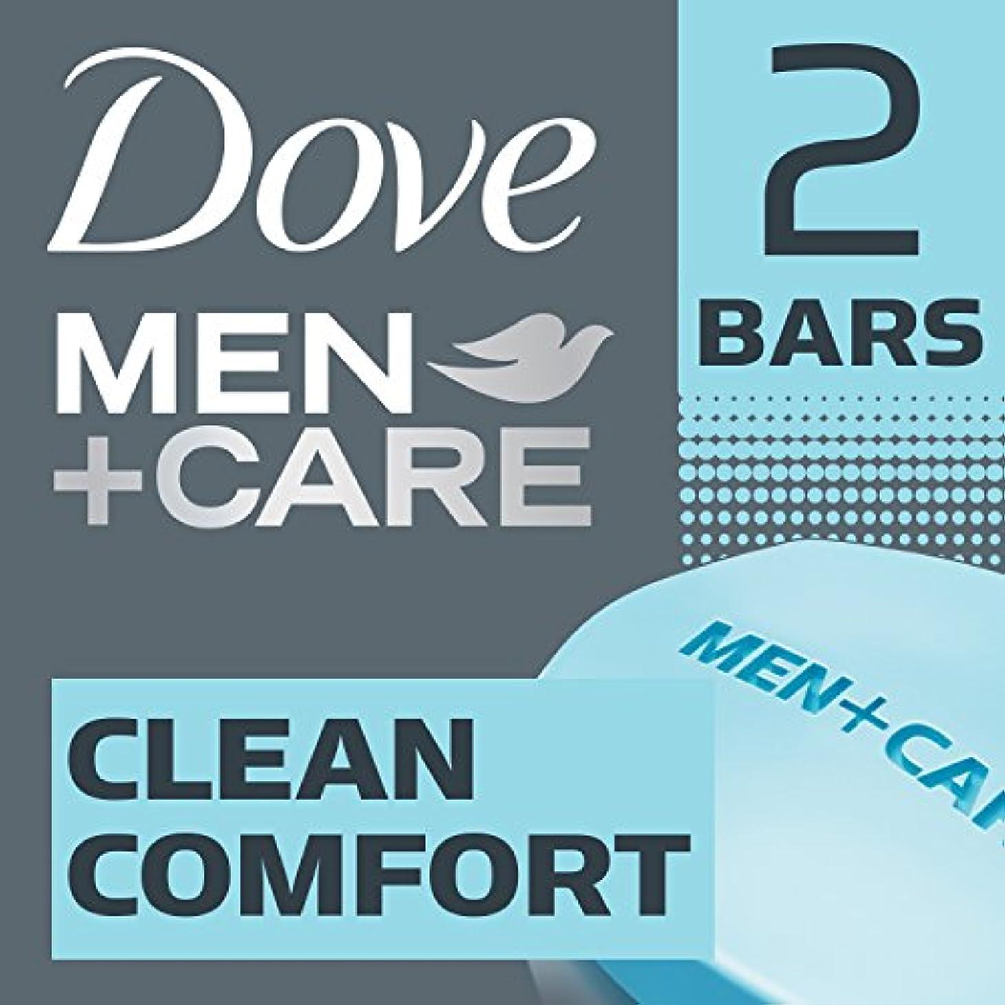 シャーク少ない一掃するDove 男性+ケアソープ、クリーンコンフォート4オンス、2バー