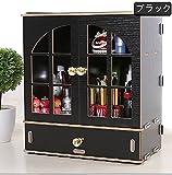 (ウィンコ)Winko 厚さ 超大 化粧品収納ボックス メイクボックス  コスメボックス テーブルの整理ボックス タンスタイプ ジュエリー ボックス ブラック