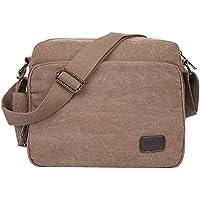 EGOGO Men's Canvas Messenger Bag Sling Shoulder Pack Daypack Cross Body Bag Satchel Bag for Work, School, and Daily Use E527-1