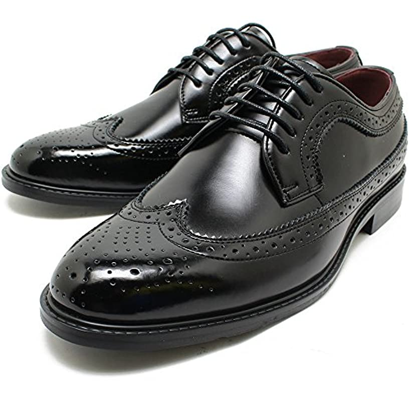 食器棚買い物に行く始まりSARABANDE/サラバンド 8602 日本製本革ビジネスシューズ ウィングチップ ブラックレザー 外羽/革靴/ドレス/仕事用/メンズ/撥水加工/大きいサイズ対応 28.0cmまで/キングサイズ/5%OFFセール