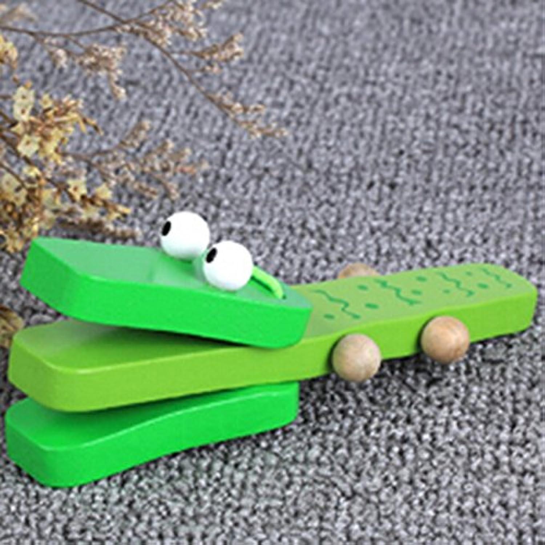 Rurah Child ' s TeachingツールLovley動物パターン木製指Castanet赤ちゃん早期教育玩具木製の子供色ランダム配信で As description Rurah