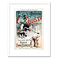 Theatre Stage Play Louis XV Comedy Paris France Advert Framed Wall Art Print