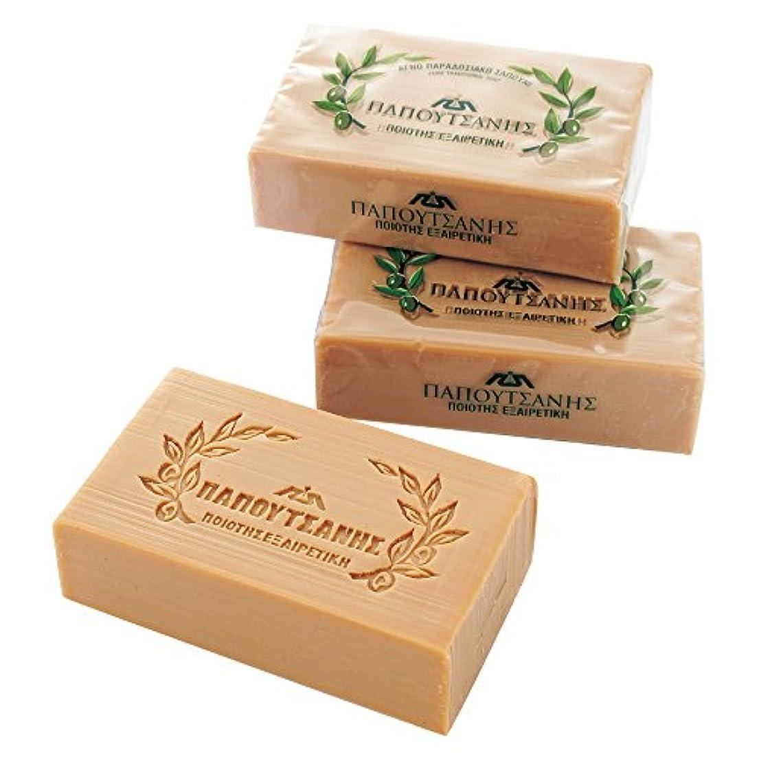 焦がす化粧毎日ギリシャお土産 パポタニス オリーブ石けん 3個セット