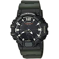 Casio Men's Classic Quartz Watch with Resin Strap, Green, 20.88 (Model: HDC-700-3AVCF
