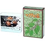【びわの種粉末スティック24本+マタタビ茶40P】   ビワ種100% またたび100%