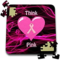 Edmond Hogge Jr–Health–Thinkピンク–10x 10インチパズル( P。_ 214685_ 2)