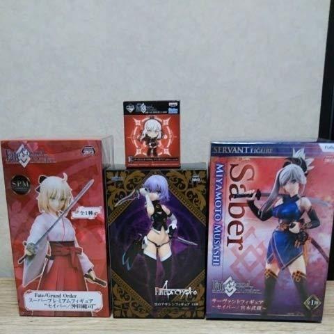 Fate Grand Order フィギュア セイバー 沖田総司 宮本武蔵 黒のアサシン 一番くじ ラバーストラップ