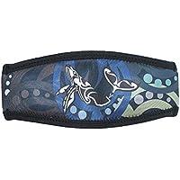 SeaCanary(シーキャナリー) シュノーケリング ダイビング用 マスクストラップカバー マカウホエール  ブラック
