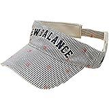 ニューバランス ゴルフシューズ ニューバランス New Balance 帽子 METRO シアサッカーストライプモノグラム刺繍サンバイザー 012-7187023