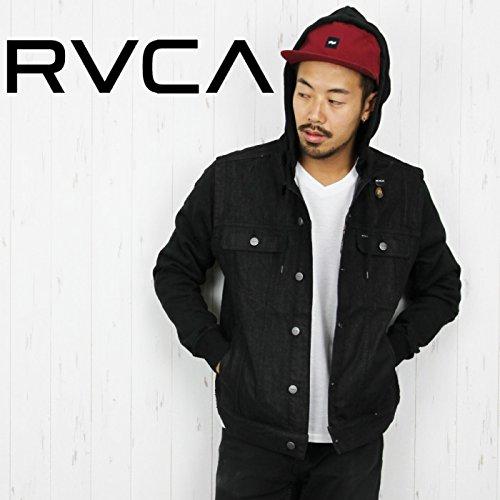 RVCA ルーカ メンズ ジャケット AE042-755 FLETCHER TRUCKER JACKET デニム フード付き