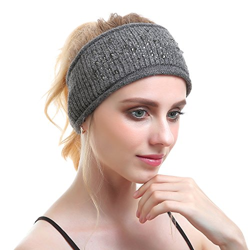 水鑽頭巾發帶頭帶女裝時尚的針織帽羊絨秋季劉海固定的瑜伽慢跑