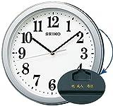 セイコークロック 掛け時計 02:銀色メタリック 本体サイズ:直径28×4.8cm 【名入れ・包装】電波 アナログ コンパクトサイズ 値札なし BC404S 5個セット