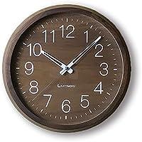 KATOMOKU muku round clock 2 ウォールナット 電波時計 スイープ(連続秒針) km-46RC Φ306mm