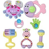 MORA 鈴を鳴らす ベビーのおもちゃ フレンドベル 想像力開発赤ちゃん知能開発おもちゃ 面白い知育玩具 可愛い動物の形 七点セット