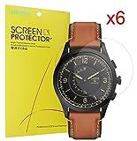 Lamshaw Fossil Q Activist 保護フィルム, 液晶保護フィルム 対応 FOSSIL 腕時計 Q ACTIVIST スマートウォッチ (6枚)