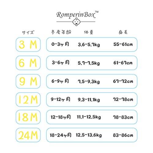 ロンパーボックス Romperinbox ベビー ロンパース 半袖 長袖 ベビーボディスーツ 女の子 男の子 0~24ヶ月設 無地タイプ (6-9ヶ, 白半袖5枚)