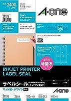 (まとめ買い) エーワン ラベルシール インクジェット 24面 100枚 29195 【×3】