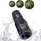 OUTERDO Waterproof Day And Night Vision Dual Focus Monocular Telescope Scope Single Hand Operation For Hunting Camping Surveillance Sporting Events Traveling