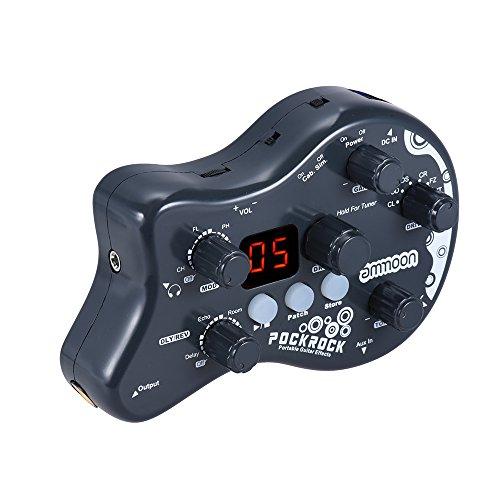 ammoon ギターマルチエフェクトプロセッサー エフェクトペダル 15エフェクトタイプ 40ドラムリズム 16プリセットパッチ 16ユーザーパッチ チューニング機能