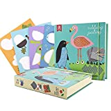 Mobee Creative Rubbing paintings for Babies 4 Painted Paper 6Rubing Pads & 12 Colored Pencils DIY Playing Toys Educational & Imaginative Toy for Babies Aged 3-8 Year [並行輸入品]