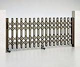 伸縮ゲートMR2型片開きキャスター式(W4380×H1200)