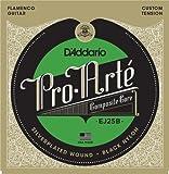 D'Addario ダダリオ クラシックギター弦 ブラックナイロン フラメンコ EJ25B FLAMENCO 【国内正規品】