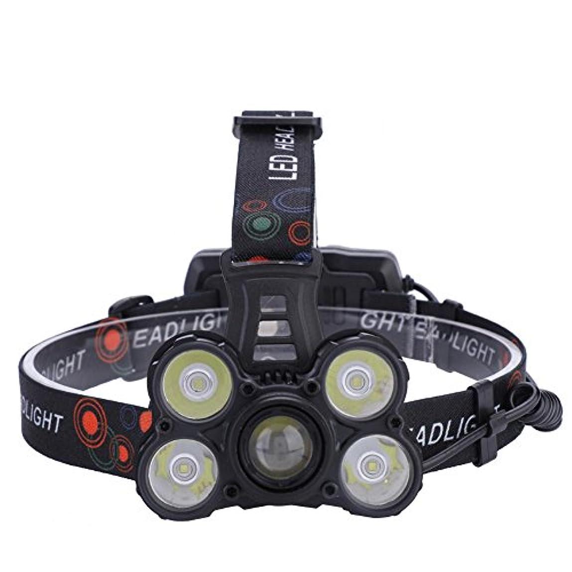 師匠特権相対性理論LEDヘッドライト 充電式USB ヘッドライト 対防水コーティング 高輝度LED 18650ルーメン仕様 5点灯モード 作業灯 防災 登山 釣り ランニング 夜釣り キャンプ ヘルメットライト ランタン