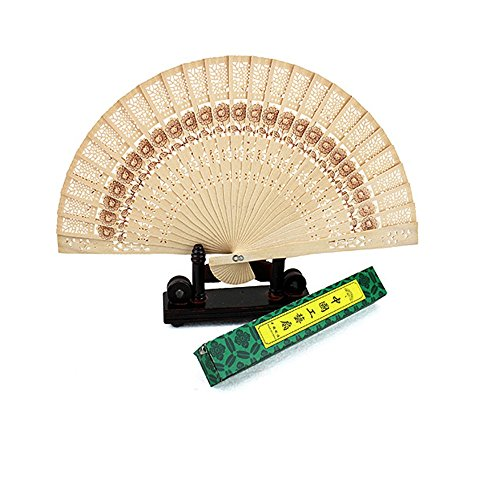 WSZYD 安い中国の扇子白檀中空風の模造木のファンクラフトファン