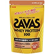 ザバス(SAVAS) ホエイプロテイン100+ビタミン カフェオレ味 【17食分】 357g