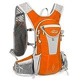 SIJIYIREN ハイドレーションバッグ ランニングバッグ サイクリングバッグ 自転車バックパック リュック 12L 全10色 (オレンジ)