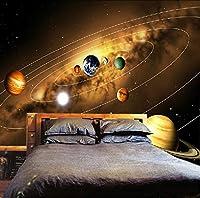 Ansyny カスタム写真壁紙3D宇宙惑星写真の背景装飾絵画リビングルームの寝室不織布壁画壁紙-420X280cm