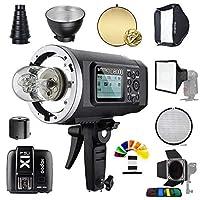 Godox AD600B TTL 600Ws GN87 HSS Outdoor Studio Flash Strobe Speedlite Light+X1T-C Trigger Transmitter Compatible Canon Cameras /32X32Softbox/Standard Reflector&Grid/Barn Door/Snoot(Bowens Mount) [並行輸入品]