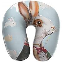 Merlin Quintina ウサギ スーツ 抱き枕 U字型クッション 首枕 ネッククッション 旅行ピロー360度快適な睡眠 子宮頸椎 保護 ポータブル
