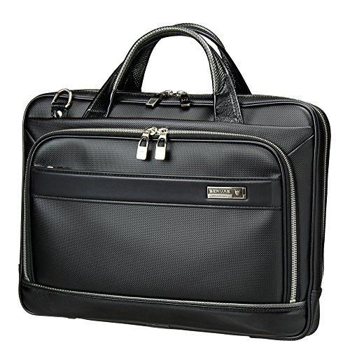 [バーマス]BERMAS EXCEED ビジネスバッグ ブリーフケース キャリーオン機能 豊岡鞄 日本製 ショルダーバッグ メンズ 60035 (ブラック)