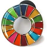 HoRoPii SDGs ピンバッジ 正規品 国連本部限定 バッチ バッジ 日本未発売 (丸み仕上げ(2個))